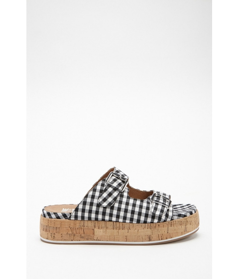 Incaltaminte Femei Forever21 Jane and the Shoe Gingham Sandals BLACKWHITE