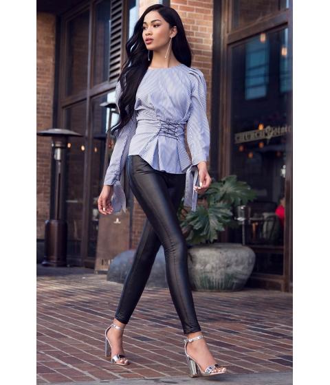Imbracaminte Femei CheapChic Rock N Roll Leather Skinny Pant Black