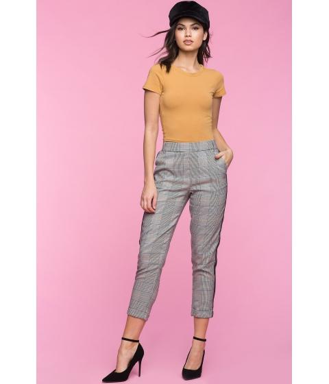 Imbracaminte Femei CheapChic Side Stripe Capri Pants Gray Pattern
