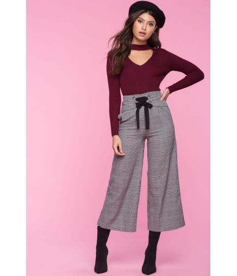 Imbracaminte Femei CheapChic Not Your Average Menswear Trouser Gray Pattern