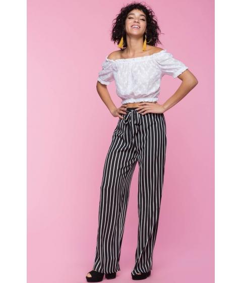 Imbracaminte Femei CheapChic Lisa Stripe Tie Pants Black Pattern