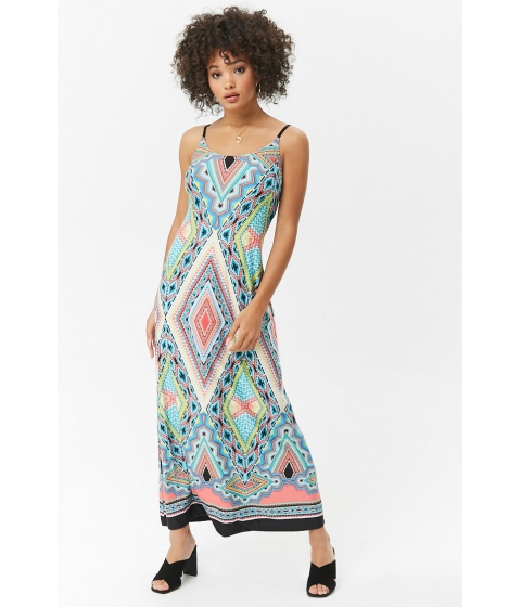 Imbracaminte Femei Forever21 Colorful Geo Print Maxi Dress PINKMULTI