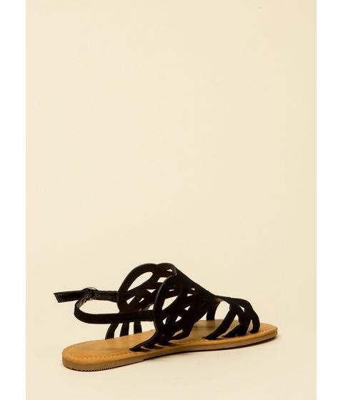 Incaltaminte Femei CheapChic Feet First Cut-out Caged Sandals Black