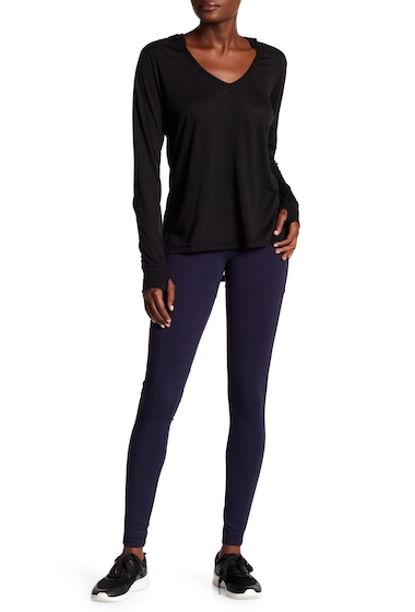Imbracaminte Femei Badgley Mischka Lace-up Mesh Detailed Leggings NAVY