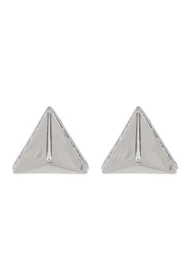 Bijuterii Femei Vince Camuto Crystal Accent Base Pyramid Stud Earrings SILVER 01