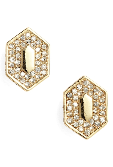Bijuterii Femei Vince Camuto Pave Crystal Stud Earrings GOLDCRYSTAL