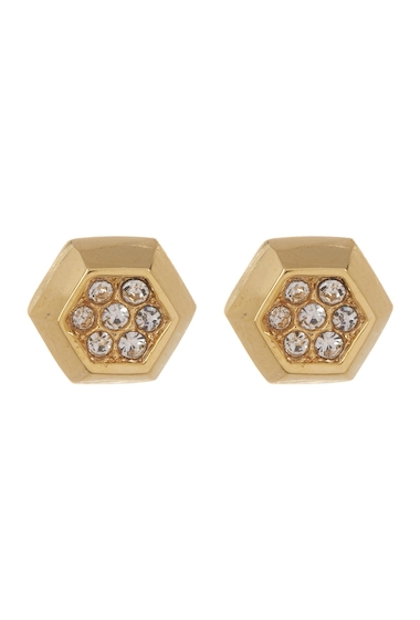 Bijuterii Femei Vince Camuto Crystal Accent Hexagon Stud Earrings GOLD 01