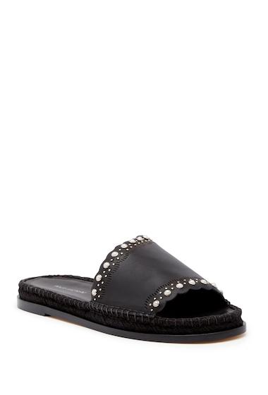 Incaltaminte Femei Pour La Victoire Pia Leather Slide Sandal BLACK