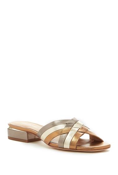 Incaltaminte Femei Pour La Victoire Malena Leather Slide Sandal GOLD