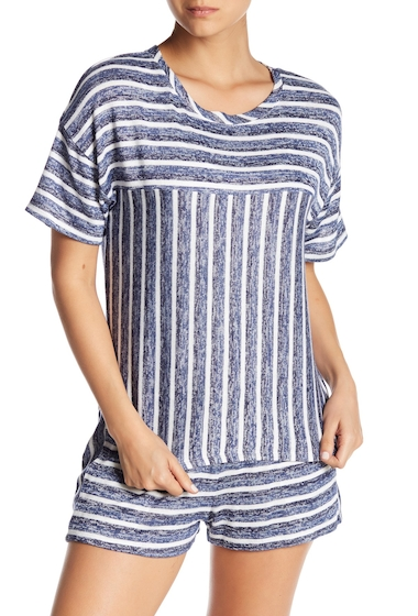 Imbracaminte Femei kensie Pajama Stripe Knit Sleep Top DKBLSTP