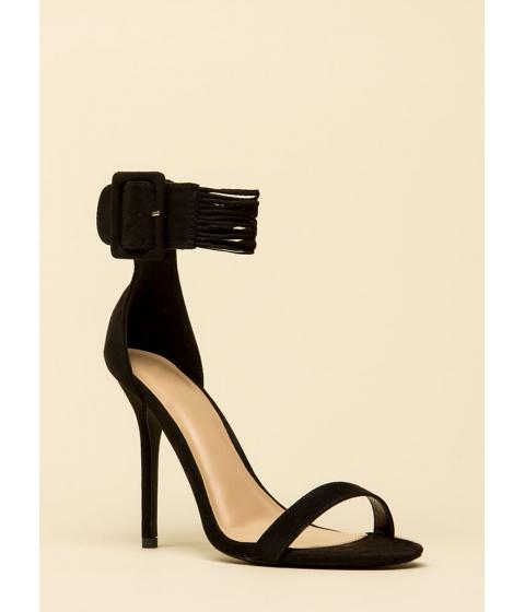 Incaltaminte Femei CheapChic Cord Progression Strappy Cuffed Heels Black