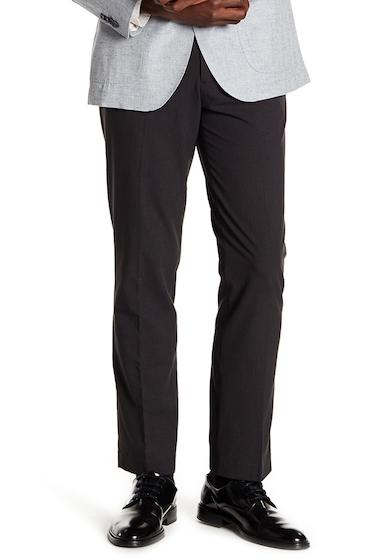 Imbracaminte Barbati English Laundry Finchley Flat Front Microcheck Trousers - 30-34 Inseam BLACK