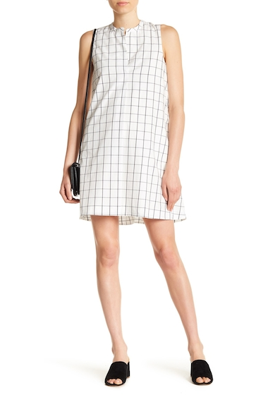 Imbracaminte Femei Madewell Sleeveless Grid Print Shirt Dress TRUE BLACK