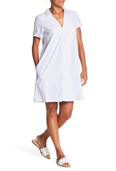 Imbracaminte Femei Madewell Swingout Striped Dress UNIFORM BLUE