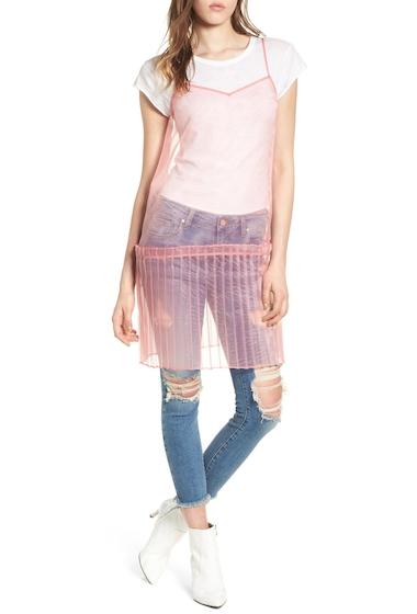 Imbracaminte Femei Leith Sheer Organza Tunic CORAL ROSE TEA