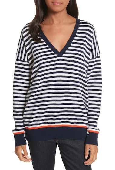 Imbracaminte Femei Equipment Lucinda Stripe Wool Cashmere Sweater PEACOAT MU