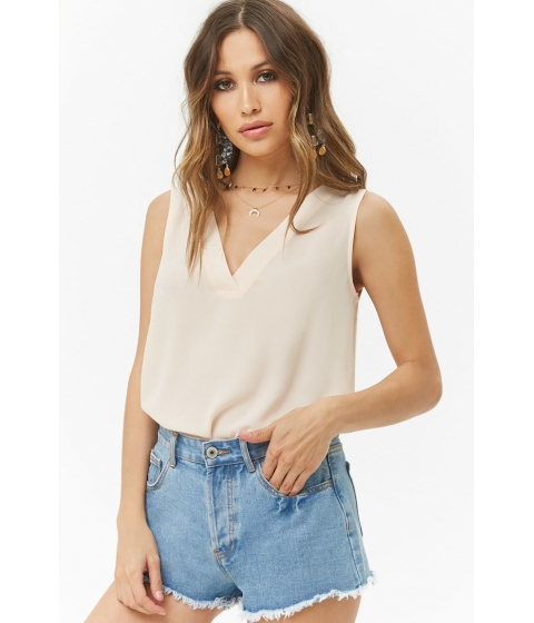 Imbracaminte Femei Forever21 Sleeveless Chiffon Top IVORY