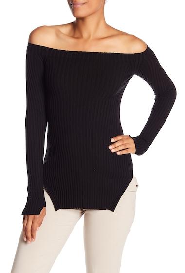 Imbracaminte Femei Helmut Lang Silk Blend Ribbed Off-the-Shoulder Sweater BLACK