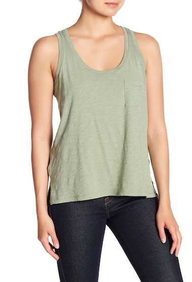 Imbracaminte Femei Madewell Slub Knit Scoop Neck Tank Top WASHED OLIVE