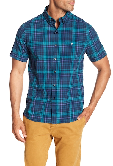 Imbracaminte Barbati MICHAEL BASTIAN Plaid Short Sleeve Shirt JADE