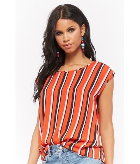 Imbracaminte Femei Forever21 Multicolor Striped Chiffon Top REDNAVY