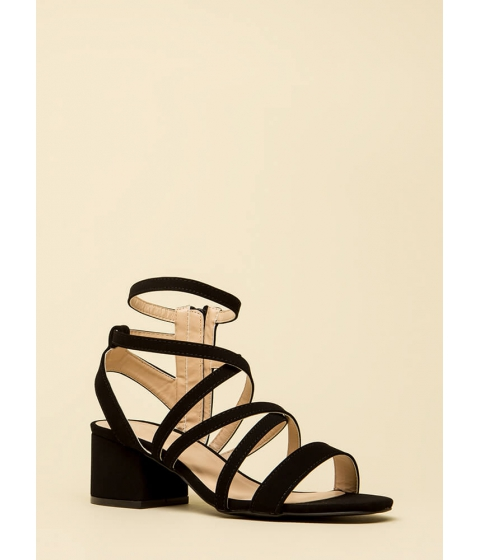 Incaltaminte Femei CheapChic You Make Me So Strappy Caged Heels Black