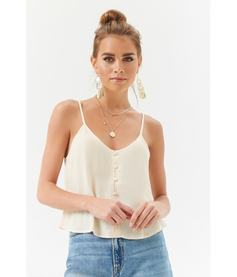 Imbracaminte Femei Forever21 Button-Front Cami BEIGE