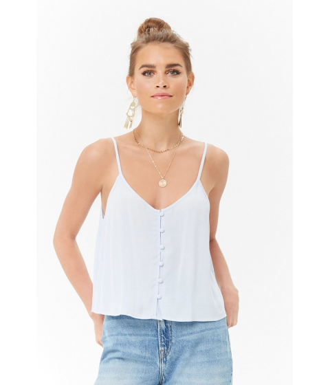 Imbracaminte Femei Forever21 Button-Front Cami LIGHT BLUE