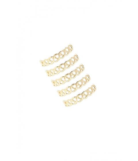 Bijuterii Femei Forever21 Chain-Link Ring Set GOLD