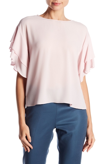 Imbracaminte Femei Vince Camuto Drop Shoulder Ruffle Sleeve Blouse Regular Petite PINK BLISS