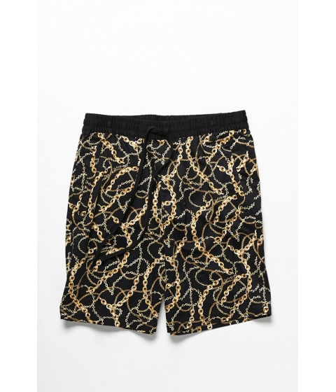 Imbracaminte Barbati Forever21 Chain Print Shorts BLACKYELLOW