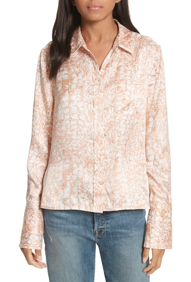 Imbracaminte Femei Equipment Huntley Silk Blouse FLUSHED MU