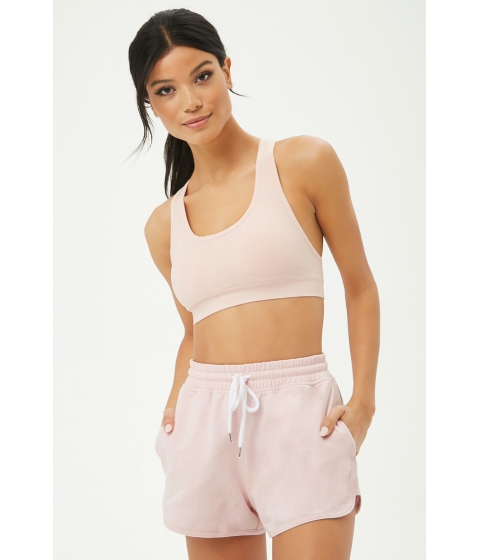 Imbracaminte Femei Forever21 Active French Terry Dolphin Shorts PINK