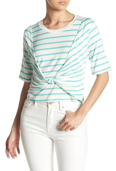 Imbracaminte Femei Abound Twist Front Stripe Tee GREEN LARGO STR
