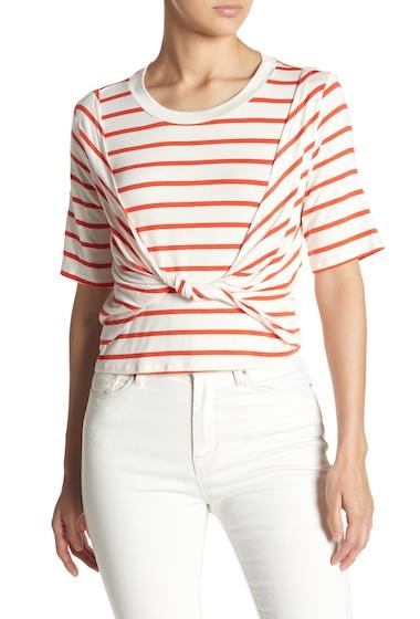 Imbracaminte Femei Abound Twist Front Stripe Tee ORANGE FEISTY STR