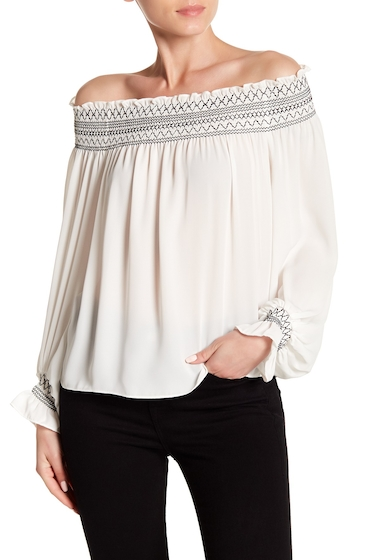 Imbracaminte Femei Laundry by Shelli Segal Off Shoulder Balloon Sleeve Top MARSHMALLOW