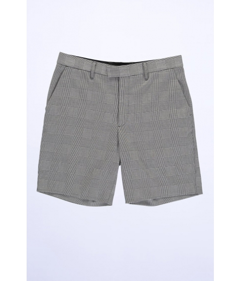 Imbracaminte Barbati Forever21 Glen Plaid Hook-and-Bar Shorts WHITEBLACK