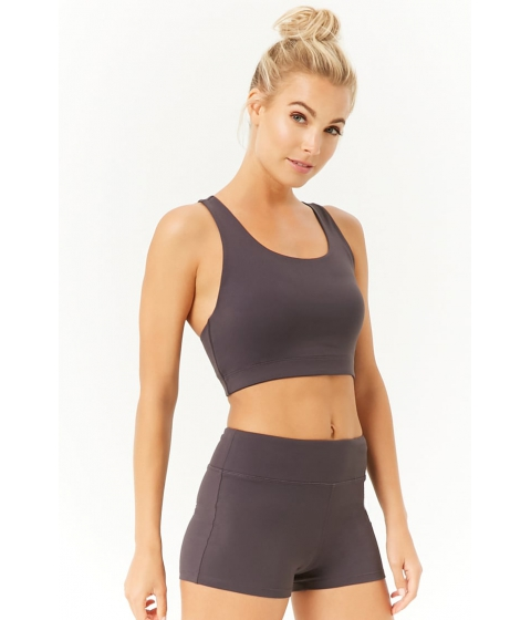 Imbracaminte Femei Forever21 Active Stretch-Knit Shorts GREY