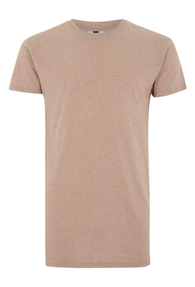 Imbracaminte Barbati TOPMAN Muscle Fit Longline T-Shirt LIGHT BROWN