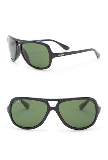 Ochelari Barbati Ray-Ban 59mm Pilot Aviator Sunglasses BLACK