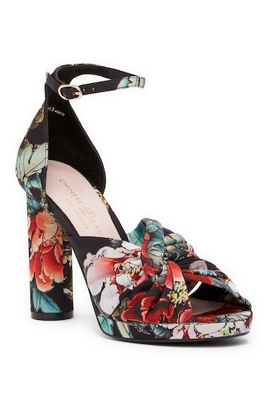 Incaltaminte Femei Chinese Laundry Flory Geisha Printed Platform Sandal BLACK MULTI
