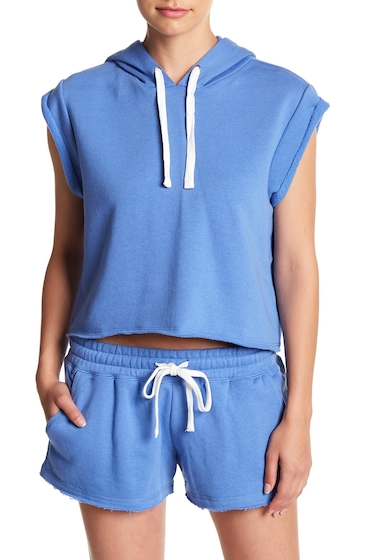 Imbracaminte Femei Free Press Rolled Sleeve Hoodie BLUE YONDER
