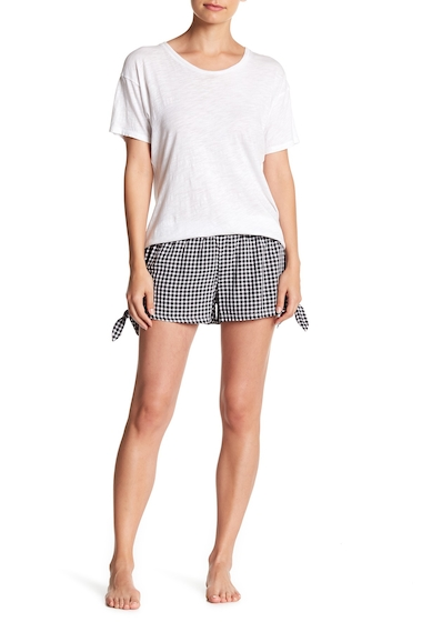 Imbracaminte Femei Free Press Woven Tie Shorts BLACK GINGHAM