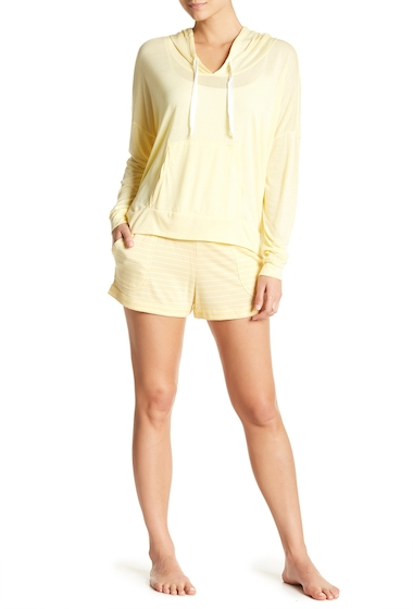 Imbracaminte Femei Free Press Patch Pocket Shorts YELLOW BANANA WHITE EMMA STRIP
