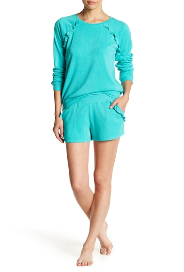 Imbracaminte Femei Free Press Ruffle Pocket Beach Shorts TEAL POOL