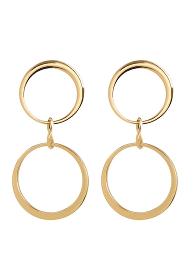 Bijuterii Femei Vince Camuto Double Hoop Drop Earrings GOLD 01
