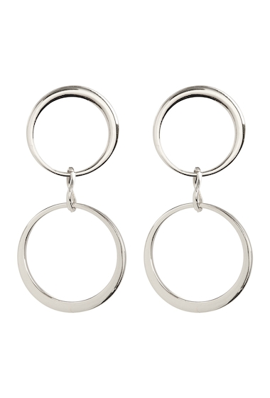 Bijuterii Femei Vince Camuto Double Hoop Drop Earrings SILVER 01