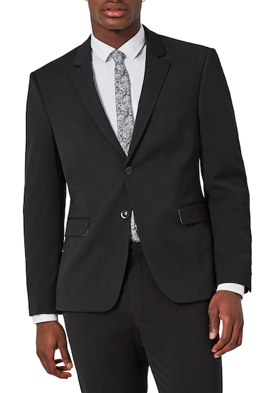 Imbracaminte Barbati TOPMAN Muscle Fit Suit Jacket BLACK
