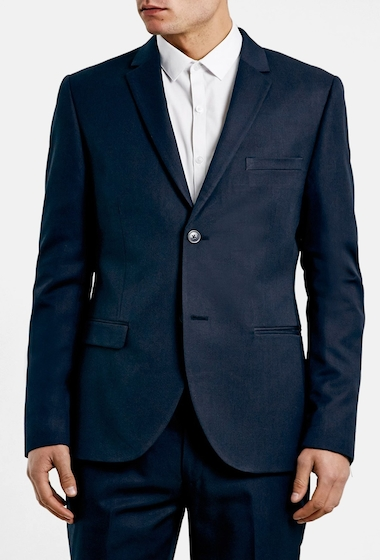 Imbracaminte Barbati TOPMAN Navy Skinny Fit Suit Jacket DARK BLUE
