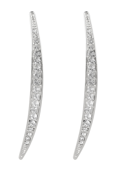Bijuterii Femei Vince Camuto Crystal Accent Curved Linear Earrings SILVER 01
